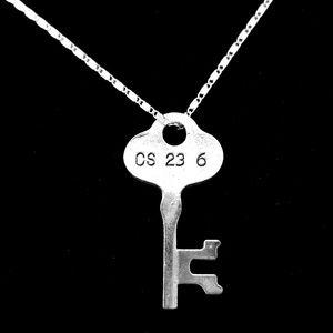 Vintage Inspired Safety Deposit Key Necklace